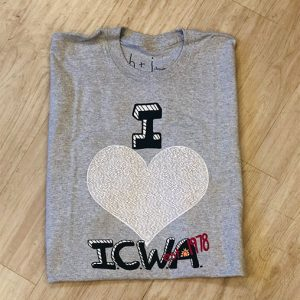 i love icwa gray shirt