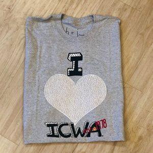 i love icwa gray shirt