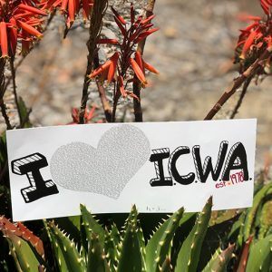 i love icwa banner sticker
